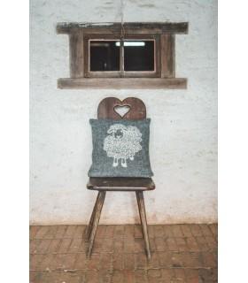 Cubierta Cojínes en pura lana nórdico