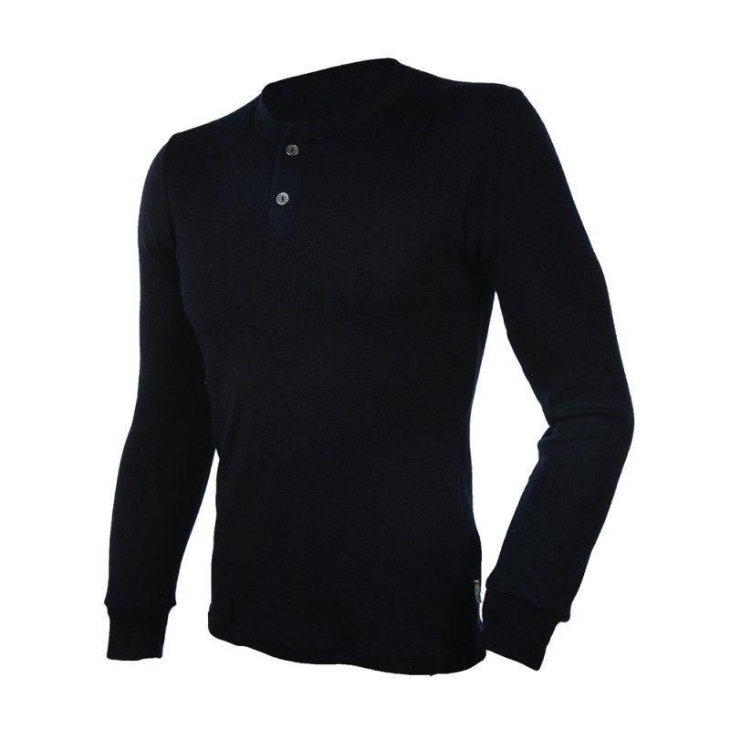 f9d4d3925bf7 Shirt Herren Langarm klar Merinowolle schwarz - Esprit Nordique
