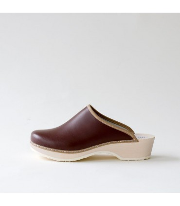 Finnish wood and leather Clogs for Men