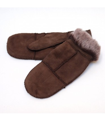 Mittens in genuine sheepskin