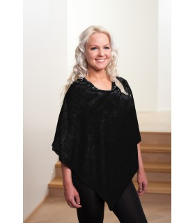 bolero black wool and silk