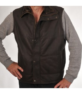 Men's merino lambskin vest without sleeves