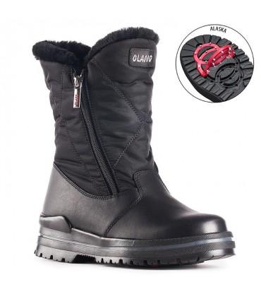 Chaussures bottes neige après ski avec crampons amovibles anti-glisse Olang