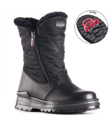 Women's snow boot Stainless steel studs OC System Olang