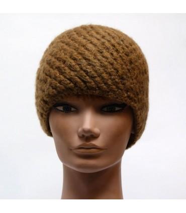 Bonnet simple kaki femme