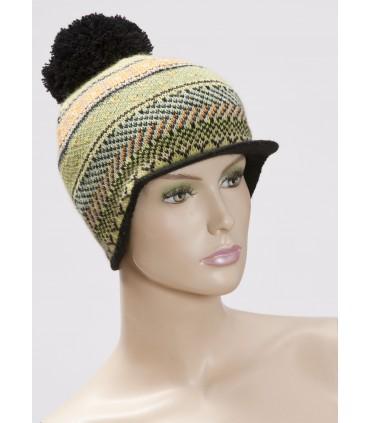 Bonnet casquette laine jacquart