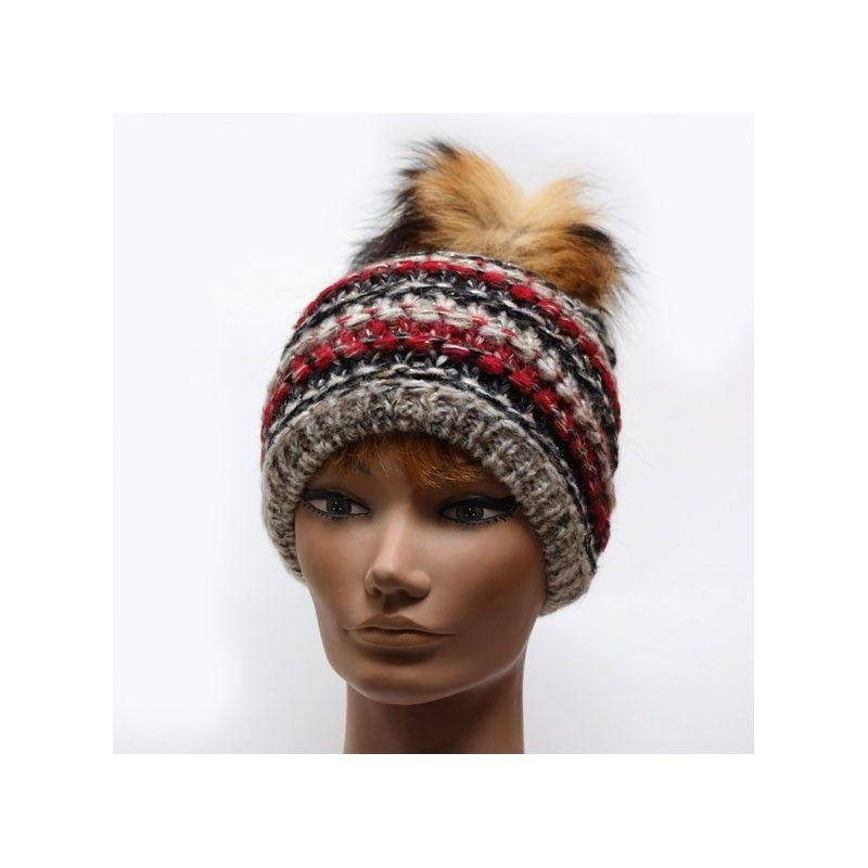 2ce365914cce6 Bonnet laine mohair avec pompon femme
