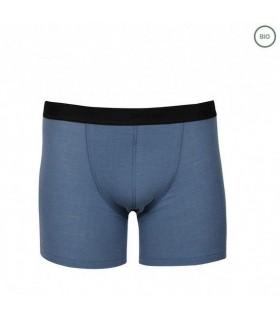 Camiseta manga azul corto Lana Merino