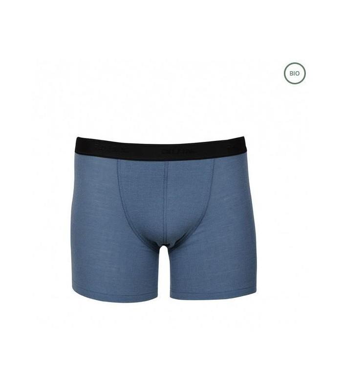 T-shirt men blue pure Merino Wool