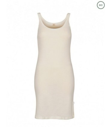Nightdress in pure merino wool offwhite