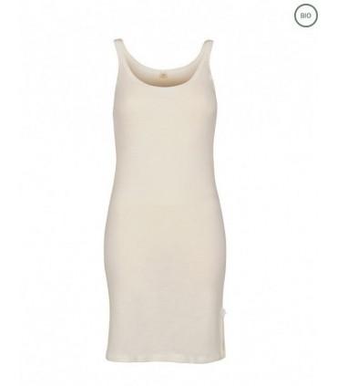 Nightdress in pure merino wool offwhite