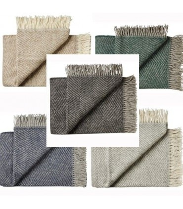 Throws herringbone in pure Virgin wool 140 x 240 cm