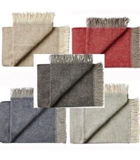 Plaid chevrons en pure laine vierge scandinave