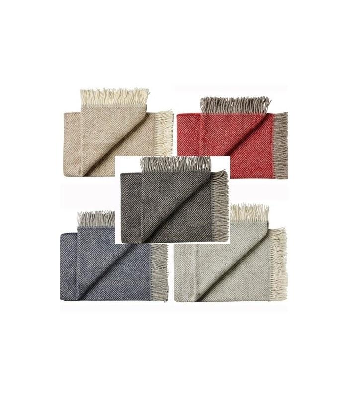 Plaid chevrons en pure laine vierge scandinave d05949512db