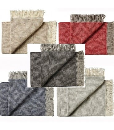 Throws Herringbone in pure Virgin scandinavian wool