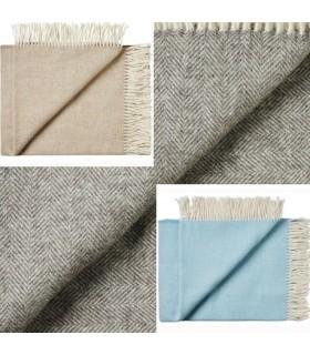 wolle-Merino und Alpaka-Wolle Decken
