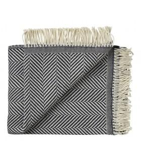 Plaid fin en pure laine à motifs chevrons design
