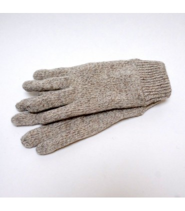 grey gloves in wool and Thinsulate