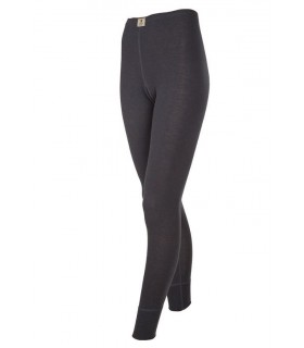 Woman black, off-white Merino Wool leggings, lace