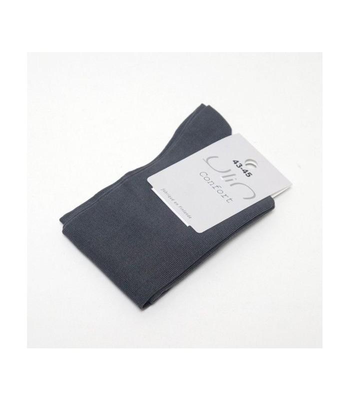 Chaussettes fil d'écosse homme gris moyen