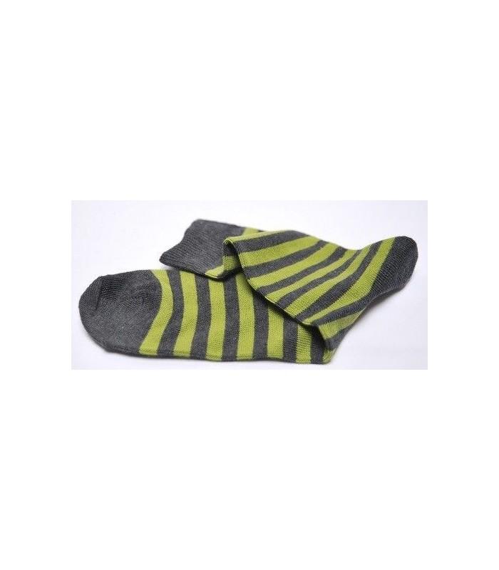 chaussettes vert et gris 75% coton