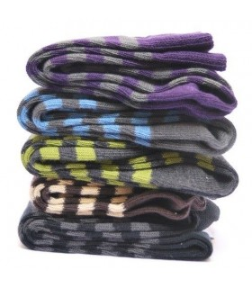 Pack 3 paires de chaussettes coton rayées Homme