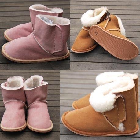 acheter pas cher 1ab87 f65fb Chaussons bottes peau de mouton véritable enfant bébé ...