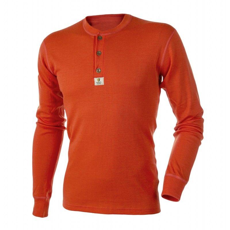 rechercher le meilleur assez bon marché aperçu de Maillot homme en pure laine mérinos avec boutons orange