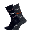Women's merino wool socks jacquard Cat