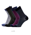 Wool Socks city woman extra fine striped