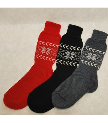 Merino Wool thick nordic jaquard Socks