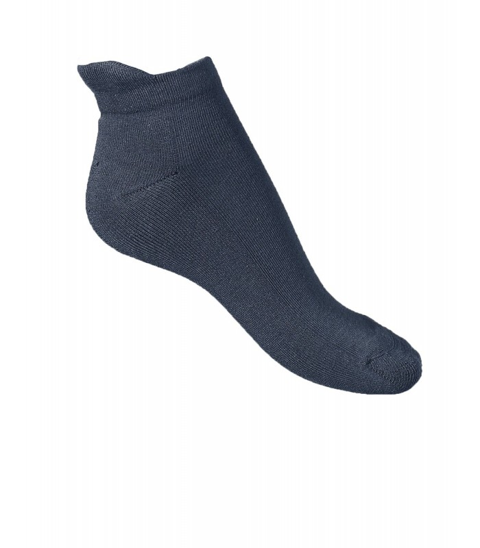 Black cotton socks with Maintenance tab