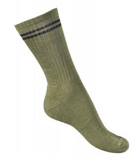 Chaussettes résistantes coton kaki toutes saisons