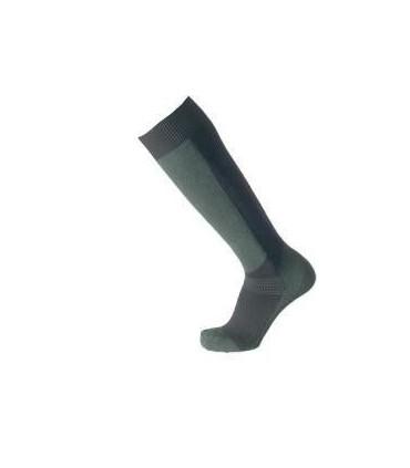 Coolmax high men's socks khaki and black