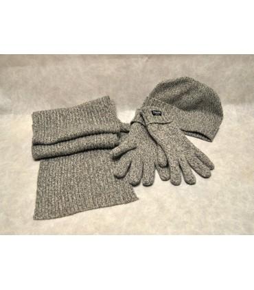 Ensemble écharpe gant bonnet laine