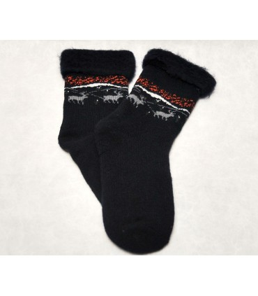 Thick cocoon marine polar wool fleece happy socks