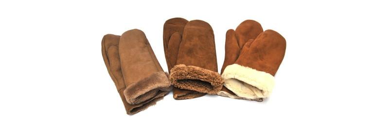 Mitones y guantes de piel de cordero y lana Ylin con Esprit nórdique