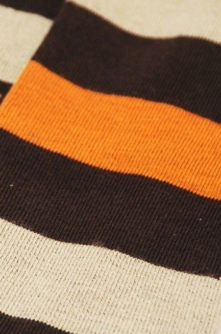 Striped Brown & orange